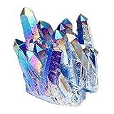 Jovivi Pierre d'Energie Precieuse Irregulier Quartz Cluster Cristal Geode Druse Specimen Maison Decoration Bibelot + Coffret Cadeau #02