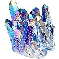 JOVIVI Edelstein Deko Formlos Bergkristall Drusen Titanium Überzogen Kristall Cluster Quarz Geode Wohnung Büro... preisvergleich bei billige-tabletten.eu