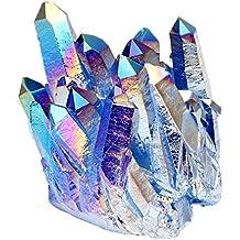 Jovivi Pierre d'Energie Precieuse Irregulier Quartz Cluster Cristal Geode Druse Specimen Maison Decoration Bibelot + Coffret Cadeau