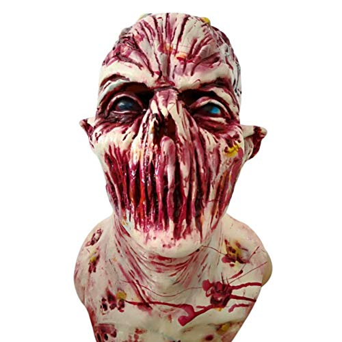 Starall Halloween Prop Walking Dead Latex Maske voller Kopf Horror Zombie Masken Kostüm Party ()