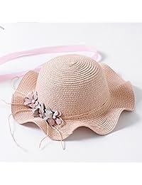 LybHat Protección UV Visera Solar Sombrero de Paja de Playa Protección  Solar Sombrero de Paja Niño Niña Niña de Las Flores Chica… cfa163436e5