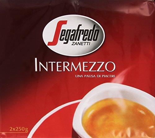 Segafredo Intermezzo Miscela di Caffè Tostato e Macinato - 2 x 250 gr