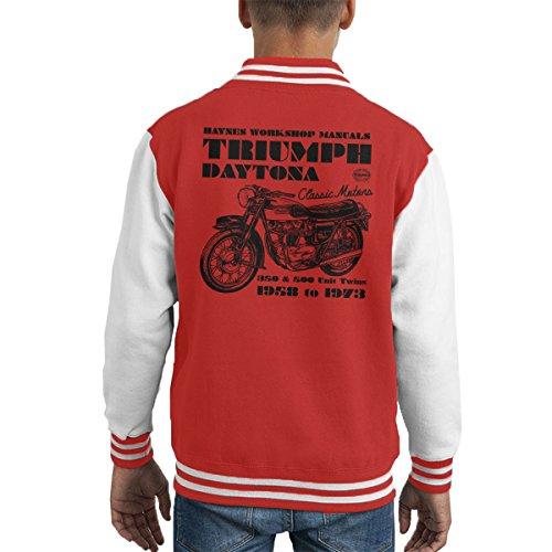 Haynes Owners Workshop Manual Triumph Daytona 350 500 Kid's Varsity Jacket - 500 Daytona Spiel