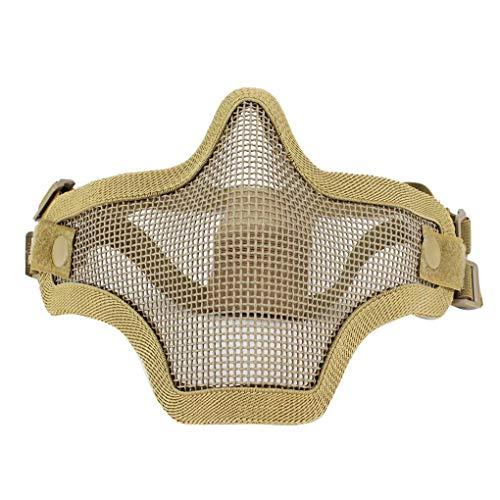 Kakiyi Low Carbon Steel Wire Krieger Außenfeldmaske CS Spiel Cosplay Halloween Fest Maske schützen