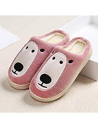 LOMYEN Home Scarpe Pantofola per Interni Regalo Natalizio Invernale Pantofole Da Casa con Fondo Spesso Pantofole Antiscivolo Invernali,38/39