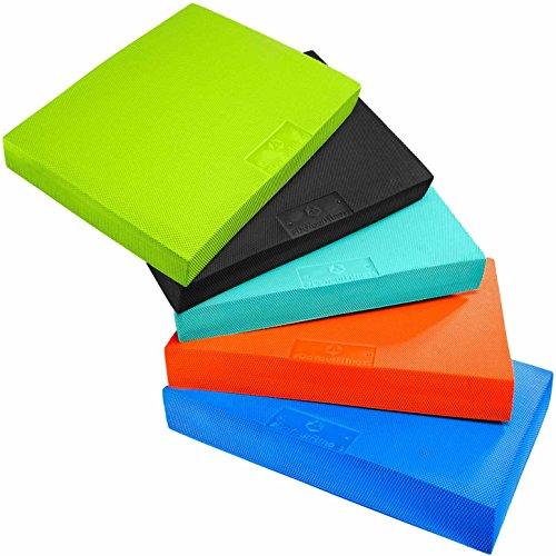 #DoYourFitness® großes Balance-Board - 49 x 39 x 6,5cm | Gewicht 500g - gelenkschondendes Ganzkörpertraining Schaumstoff : Balance-Pad Koordinationsmatte Balance-Kissen Balancetrainer »Libra« türkis