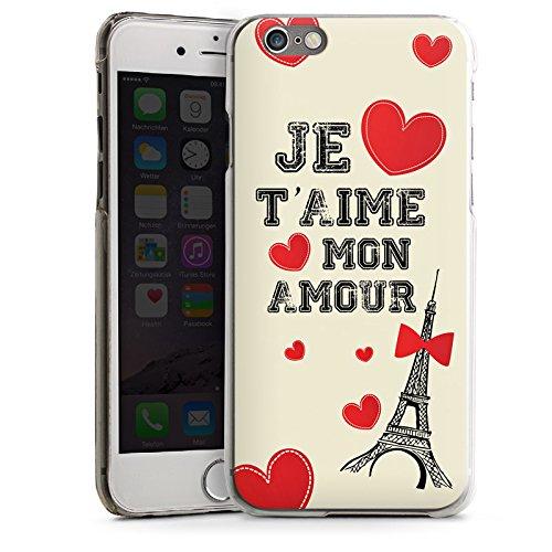 Apple iPhone 5s Housse Étui Protection Coque C½ur Phrase Mon Amour CasDur transparent