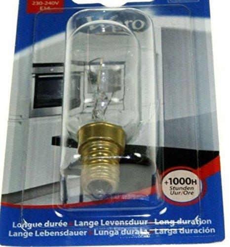 Ampoule E14 T29 40W 220V pour four longueur 74mm x diam 27mm