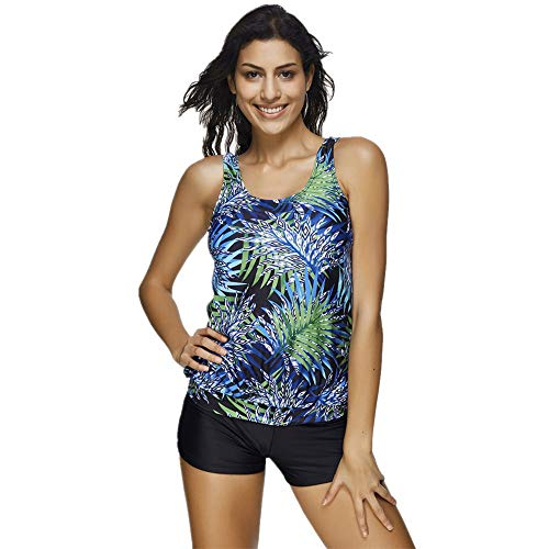 Badeanzug Damen Sport Plus Size, Zolimx Bikini Set High Waist Monokini Bademode Push Up Gepolstert BH Rückenfrei Badebekleidung