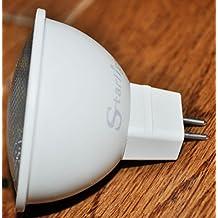 Starlight MR16 GU5.3 6 W = 40 W MR16 bombillas LED 3000 K blanco cálido bajo consumo 12 V - 10 unidades