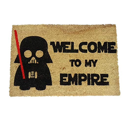 koko doormats - Felpudos Originales y Divertidos para la Entrada de casa - Welcome to my Empire - PVC, Coco, 40 x 60 cm