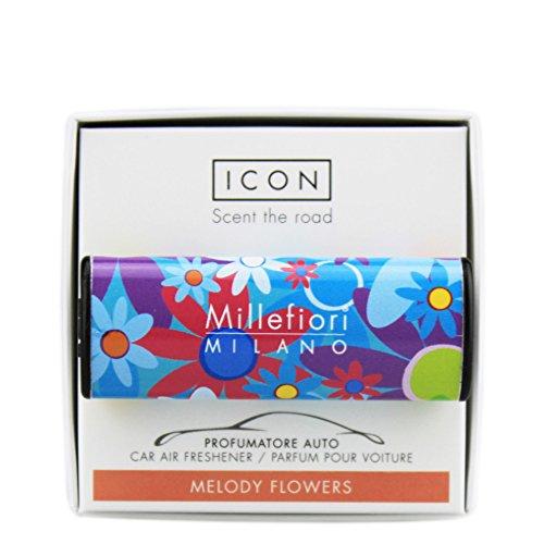 Millefiori 8059265194445 Car Freshner Icon 05 Melody Flow Candele Saponi Profumi E Diffusori, Multicolore, U