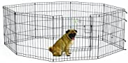 MidWest Exercise Pen, Black, 24 inch, 1613