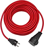 Brennenstuhl H07RN-F 3G1,5 - Cable (25 m, Male connector/Female connector, Rojo)