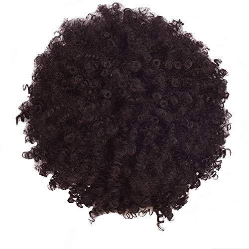 Zolimx Hort Afro Curly Mix Haar Perücke mit Pony Synthetische Neue Ankunft Günstige ()
