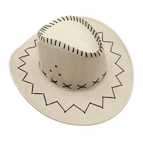 Cowgirl Hüte mit breiter Krempe, Unisex Kappe mit verstellbarem Kinnriemen Outdoor Hut zum Angeln, Wandern, Safari, Reisen, Sommer Sonnenschutz ()