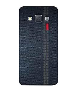PrintVisa Designer Back Case Cover for Samsung Galaxy A3 (2015) :: Samsung Galaxy A3 Duos (2015) :: Samsung Galaxy A3 A300F A300Fu A300F/Ds A300G/Ds A300H/Ds A300M/Ds (Jeans Denims tough comfortable red lable)