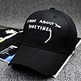 #8: ILU Stylish Cotton Baseball Cap for men & Women Adjustable Size Black Color