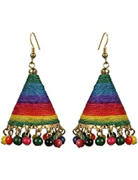 The Indian Handicraft Store Cone Multi Colour Jhumki Earring