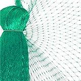 WARKHOME Vogelschutznetz zum Abdecken von Bäumen, Sträuchern, Beeten | viele Größen | reißfestes Vogelnetz für Garten, Balkon oder Teich | Netz zum Schutz vor Vögeln | Maschenweite: 15 mm | grün | 4x10 m