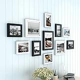 XUEYAN Moderne Bilderrahmen Wand | Kombinierte Wand-Holz-Bilderrahmen | für Korridor Wohnzimmer | Set von 11 (Farbe : Color#2)