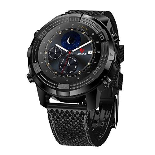 LEMFO LEM6 - 3G Smartwatch Telefon (mit austauschbarem Bügel), IP67 wasserdichter GPS-Verfolger-Viererkabel-Kern 1.0GHz 1GB + 16GB Anti-verloren