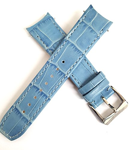 Genuine Raymond Weil 20 mm azzurro da donna in pelle Watch Band strap 5590