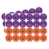 Halloween, Trick or Treat stickers, 30mm - 4 designs designs - Various quantities