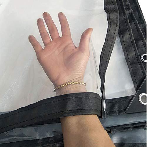 Abdeckplane PE-durchsichtige Plane für die offene Lagerung , Reißfestigkeit Trap Balkon Windschutzscheibe Regen-Vorhang-LKW-Staubschutz, 120g / ㎡ (größe : 4m×4m)