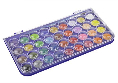 Kinder Ungiftig Aquarellfarben Set Aquarellkasten Wasserfarben Set mit 36 Wasserfarben Farbkasten Aquarell Farbe Kuchen mit Pinsel - 7