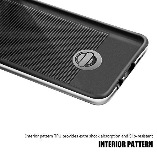 tinxi® Silikon Schutzhülle für Apple iPhone 6/6s 4,7 Zoll Hülle TPU Silikon Rückschale Schutz Hülle Silicon Case sehr dünn und leicht nur 0,7mm Dicke weiße Löwenzahn Silber