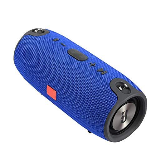 Musikbox Tragbarer Bluetooth-Lautsprecher Drahtlose Bass-Säule wasserdichte Unterstützung für Außenlautsprecher AUX TF USB-Subwoofer-Stereolautsprecher Teufel (Color : Blue)