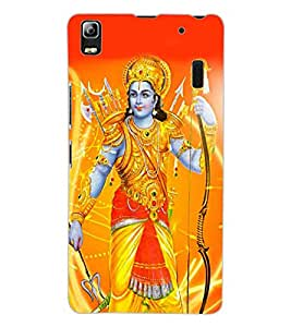ColourCraft Lord Rama Design Back Case Cover for LENOVO A7000 PLUS