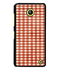 PrintVisa Designer Back Case Cover for Microsoft Lumia 630 (Checks Square Designer Blocks Bedsheet Wallpaper Pattern)