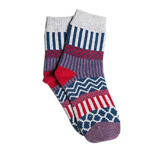 ne Leichte Stricken Warme beiläufige Wolle Crew Winter Stiefel Socken Strumpfwaren Strümpfe Passt für die Meisten Erwachsenen ()