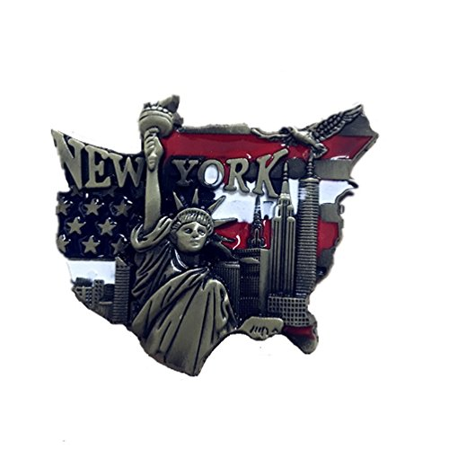Bella Magnet Frigo Aimant Frigo Aimant Réfrigérateur Décor Voyage Vacances Souvenir Métal US Statue de la Liberté New York San Francisco Fridge Magnet Sticker