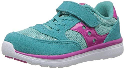 Saucony Girls' Baby Jazz Lite Sneaker, Blue, 5.5 Medium US Toddler -