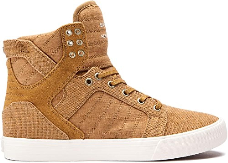 Supra Skytop - Zapatillas de entrenamiento para hombre, talla grande, color marrón, canela, 8 UK  -