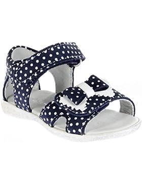 Richter Kinder Lauflerner-Sandalen blau Leder Mädchen Schuhe 2205-731-7201 Sissi S