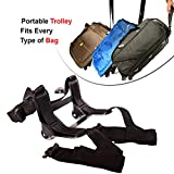 #7: Hoop Wheels Portable Folding Luggage Trolley for Bags Traveling Suitcase Duffel Bags Rucksacks Bags Casual Travel Bag Travel Accessories