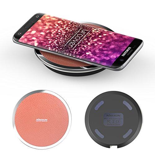 Universal QI Ladeempfänger I Fast Charging Ladegerät kabelloses Laden kompatibel mit Qi fähige Smartphones in Braun