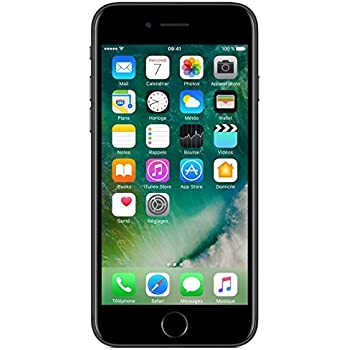 "Apple iPhone 7 - Smartphone con pantalla de 4.7"" (Wi-Fi, Bluetooth, 32 GB, 4G, cámara de 12 MP, iOS), Negro"