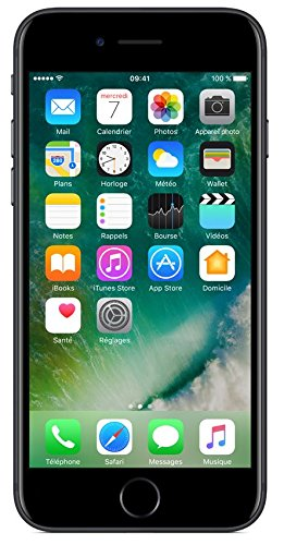 "Apple iPhone 7 Smartphone 4G (Display: 4,7"" - 32 GB - iOS 10) Nero opaco [Francia]"