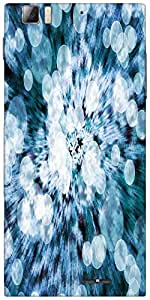 Snoogg Blue Flower Abstract Background Designer Protective Back Case Cover Fo...