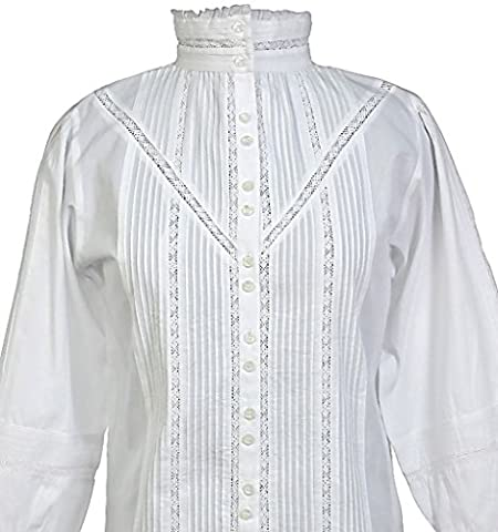 Cotton Lane White Cotton Victorian/Edwardian Vintage Reproduction Blouse.