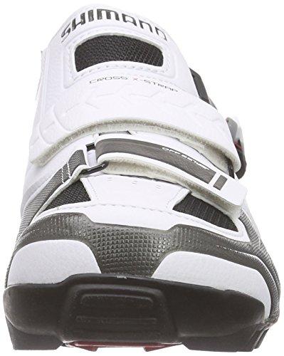 Shimano E-SHM089W, Chaussures de VTT mixte adulte Blanc (White)