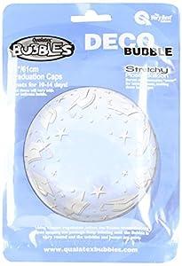 Qualatex 48565 - Tapas de graduación de Burbujas de 60 cm, 1 Globo de Burbujas por Paquete