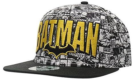 Mens Printed Novel Cap Flat Peak Snapback Breathable Headwear (Mens, Batman)