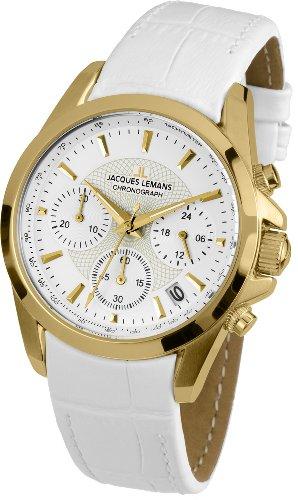 Jacques Lemans Damen-Armbanduhr XS Chronograph Quarz Leder 1-1752D
