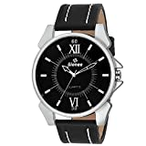 GIONEE MRT-013- Analog Black Dial Casual Wrist Watch for Men with Durable Leather Stripe.